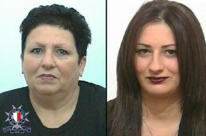 Marija Lourdes Bonnici (left) and her daughter Angele Bonnici have been reported missing. The police have appealed for information