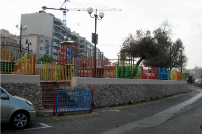 The current playground on Tower Road in Sliema will be replaced by a new one