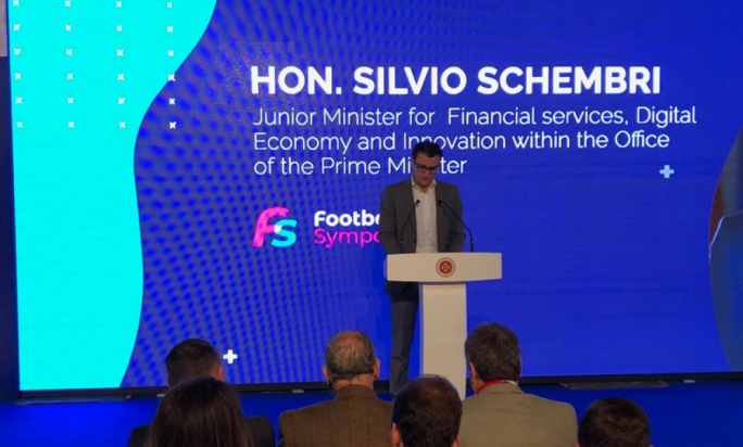 Digital Innovations Parliamentary Secretary Silvio Schembri addressed the MFA's Football Symposium