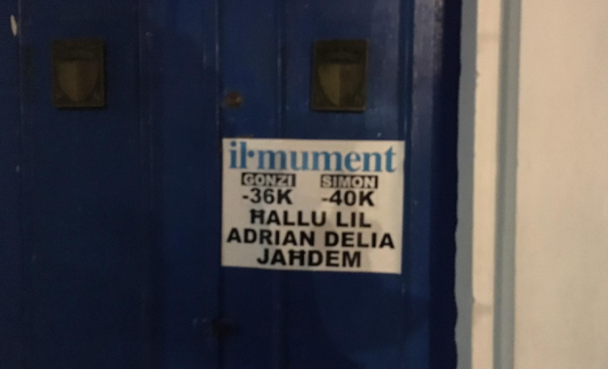 Posters of support for Adrian Delia