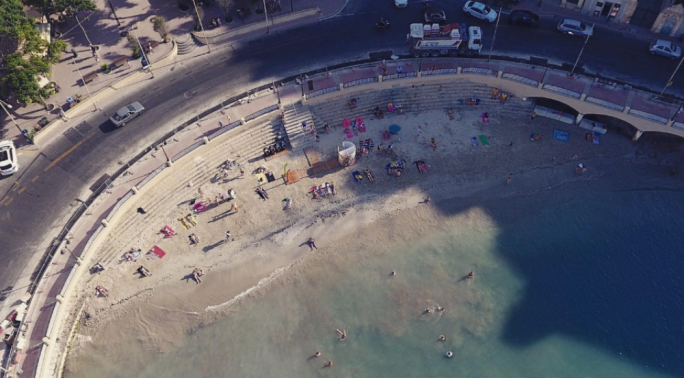 [WATCH] Balluta beach open to the public once again