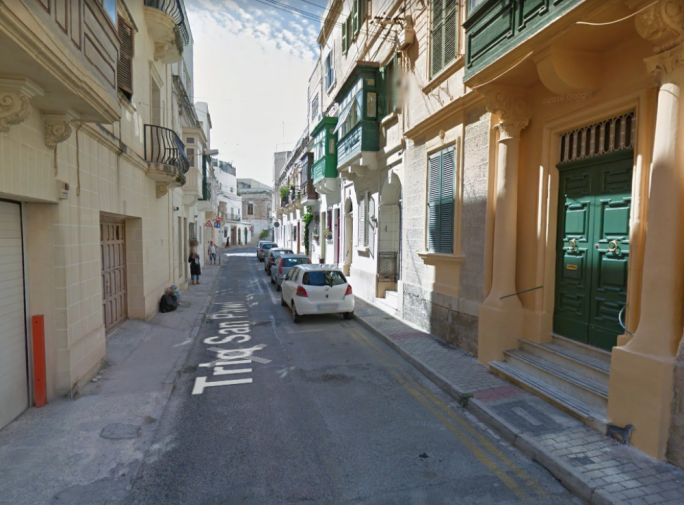 The accident happened in Triq San Pawl, Sliema (Photo: Google Maps)
