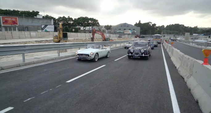 Vintage cars were invited to drive up the new Marsa flyover as part of a ceremony inaugurating the opening of the first Marsa Junction Project flyover