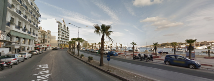 The accident happened in Triq ix-Xatt, Sliema