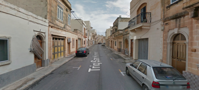 The incident happened in Triq San Klement, Żejtun