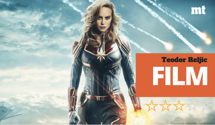Marvel at the Metro: Brie Larson quite literally shines as the titular-but-burgeoning heroine in Captain Marvel