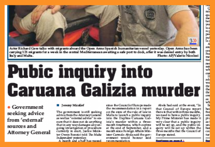 Journalism's worst typo ever gets Malta Independent right in the front page headline