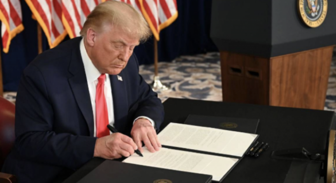 Trump Signs Four Executive Orders for Economic Relief