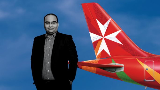 Finance minister Clyde Caruana is responsible for Air Malta