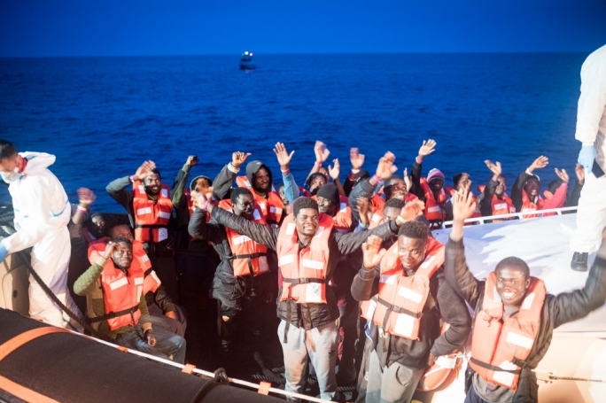 The 47 people were disembarked in close and friendly cooperation with the Italian Coast Guard and Guardia di Finanza, as the Sea-Watch 3 was deemed too big to enter the port of Lampedusa