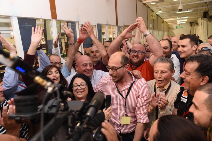 Kurstein Sant was elected the first Labour mayor of Qormi