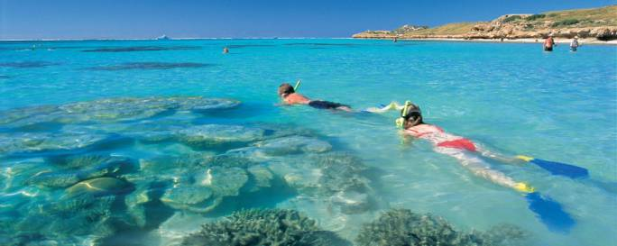 The Batavia Coast is popular with travelers for its white sandy beaches, turquoise waters and marine life