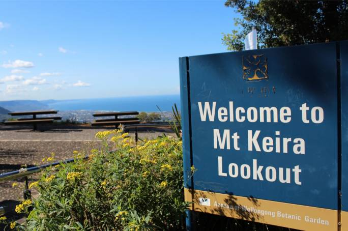 Catch views of the entire city at the top of Mount Keira