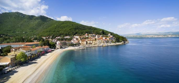 The seaside town of Opatija
