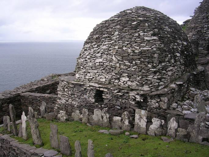 The 7th century Christian monastery on the island of Skellig Michael was abandoned around the 12th century and has recently been made a UNESCO World Heritage Site