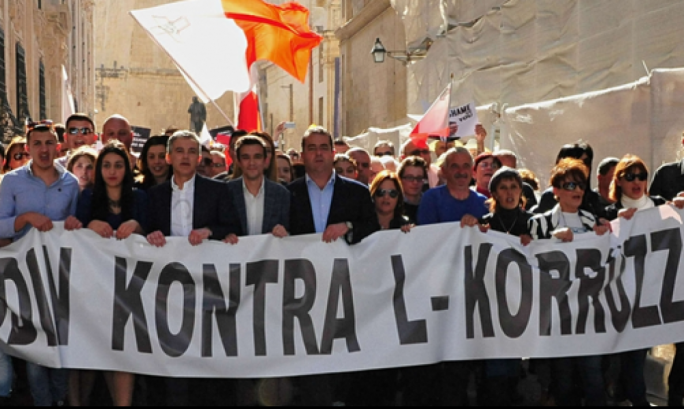 Busuttil had addressed the protest back in March 2016