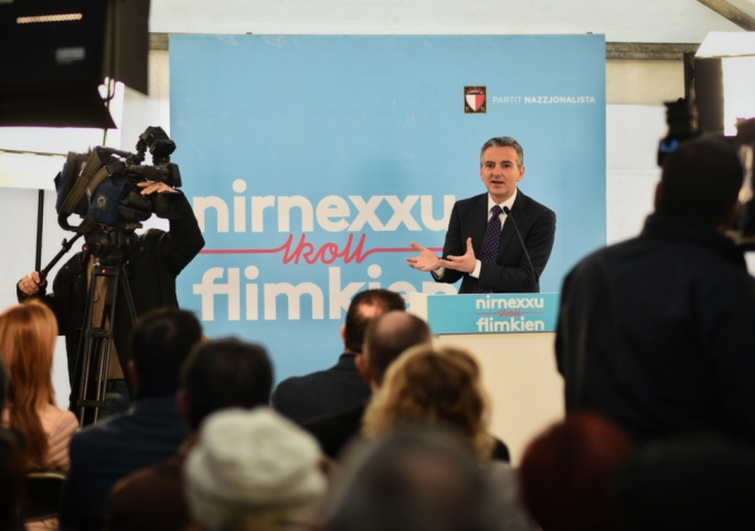The enemy of my enemy is my friend: Simon Busuttil says PN open to all those who are against 'Joseph Muscat and his corrupt government'(Photo: PN/Facebook)