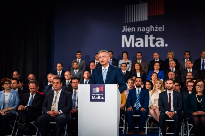 PN leader Simon Busuttil presents the candidates