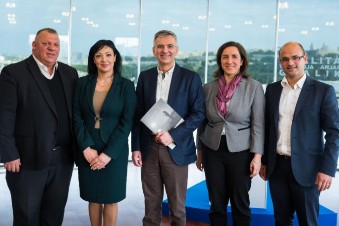 PN leader Simon Busuttil with his environment team, which includes shadow minister Marthese Portelli, MPs Toni Bezzina and Ryan Callus and Simone Vella Lenicker (Photo: PN/Facebook)