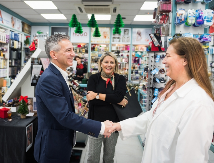 PN leader Simon Busuttil visits retail shops in Attard