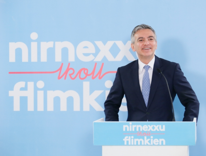 Opposition leader Simon Busuttil in Zabbar