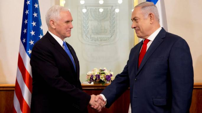 Mike Pence received a warm welcome from Benjamin Netanyahu (Photo: The Guardian)