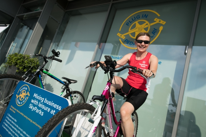 Vodafone Malta CEO Amanda Nelson is on her bike!