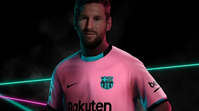 FC Barcelona have released a photo of Lionel Messi modeling their new kit, ahead of a possible return to training with the club on Monday