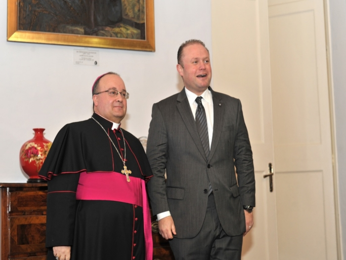 Church and State: Scicluna and Muscat playing nice