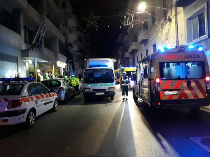 Residents evacuated after fire breaks out in Gzira apartment, one hospitalised
