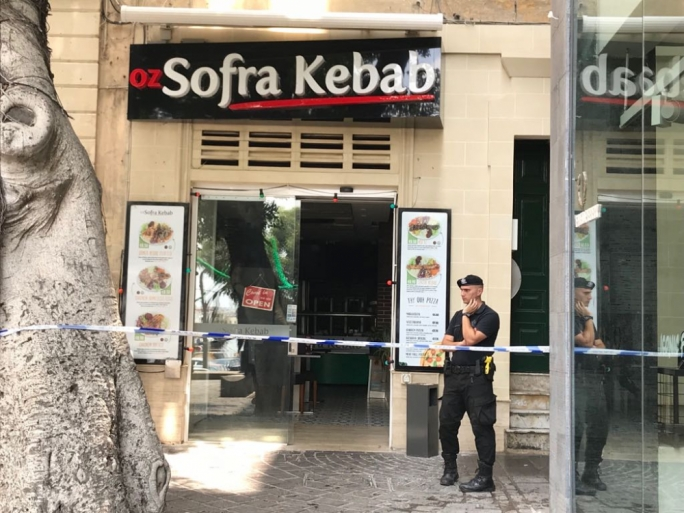 The fire was reported at a restaurant at St Anne's Square in Sliema