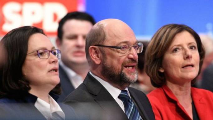 Martin Schulz's SPD has to approve the deal(Photo: BBC)