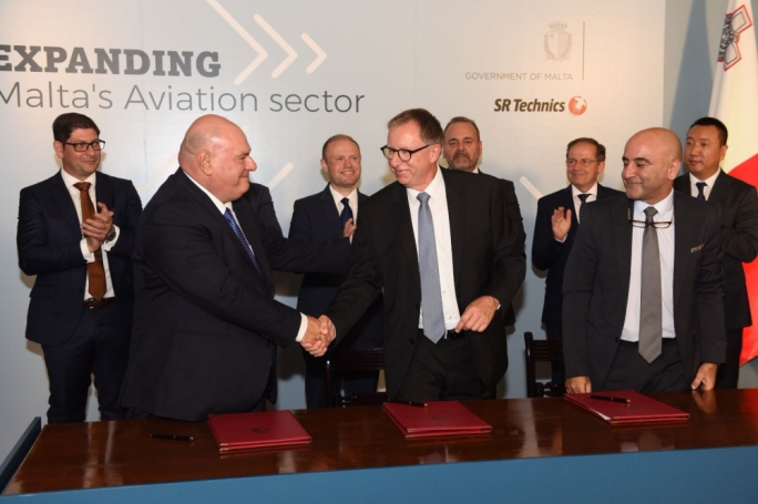 SR Technics signed an agreement with Malta Enterprise to expand its operations with a six-bay hangar