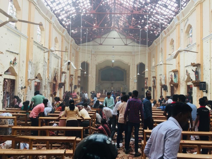 Eight explosions across a number of churches and hotels have killed hundreds and injured scores more in Sri Lanka (Photo: IndiaTimes.com)