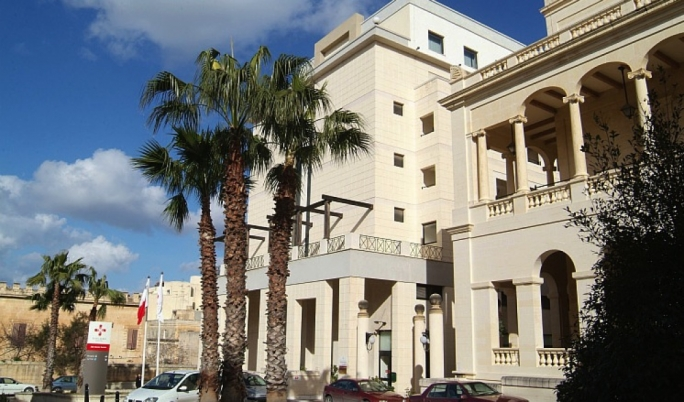 The St James Hospital in Sliema: its owners were negotiating its sale with two American-Palestinian entrepreneurs
