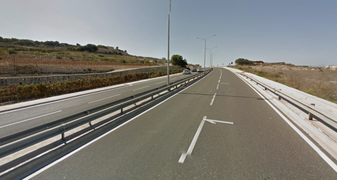 A 23-year-old woman was grievously injured in an accident on the St Paul's Bay bypass