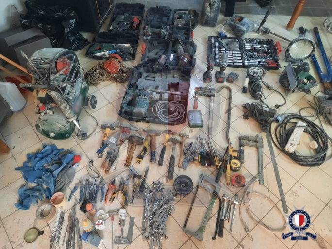 Two men arrested after stealing construction site tools and equipment