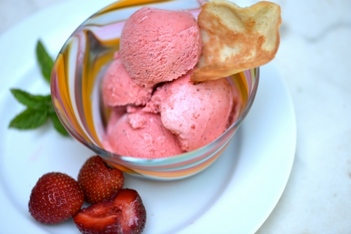 Pippa Mattei's strawberry ice cream