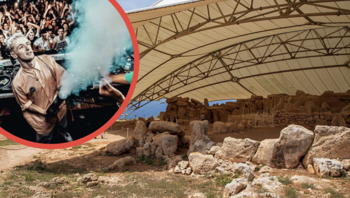 Heritage Malta 'removes' audience from DJ's livestreamed event at Mnajdra temples