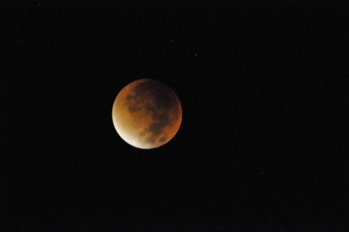 The full lunar eclipse took place at around 4am. Photo by Chris Mangion