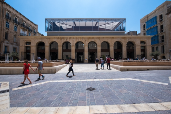 The Planning Authority has approved a permit for tables and chairs and an enclosed area to be placed in front of the Suq tal-Belt in Valletta