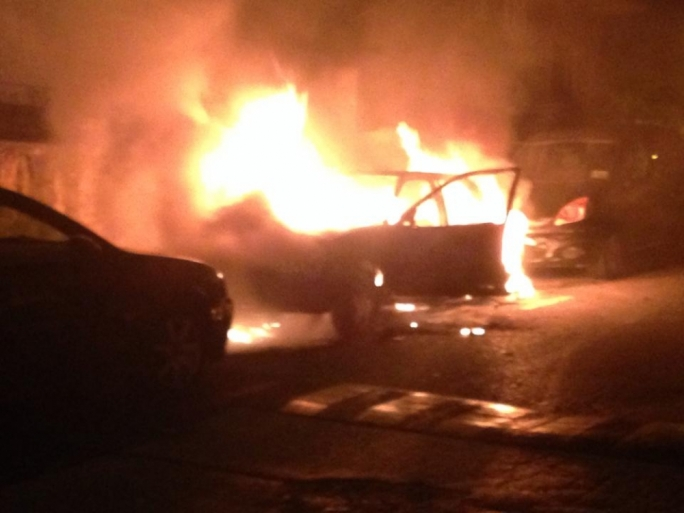 Car destroyed by fire in Swieqi