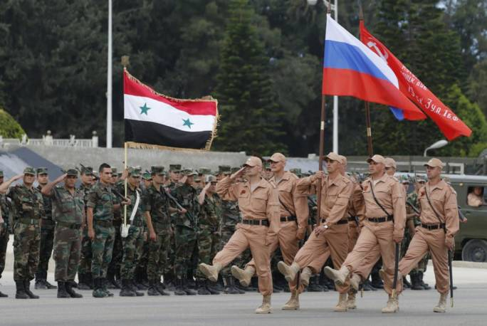 East is east: Russian and Syrian troops