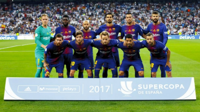 Barcelona beat Sevilla in Morocco to win this season's Supercopa de Espana