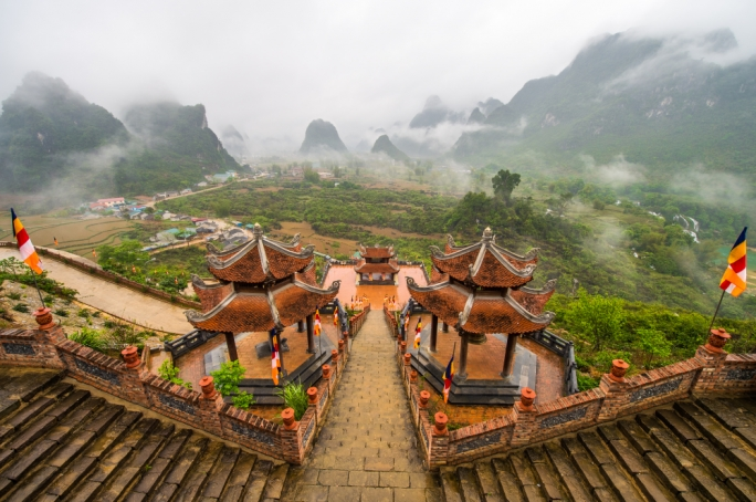 Ban Gioc offers some of southeast Asia's most scenic views