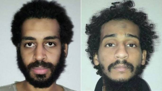 The two remaining survivors of the British ISIS jihadist group 'the Beatles' - Alexanda Kotey (left and El Shafee Elsheikh - should be tried at the Hague, UK defence minister says