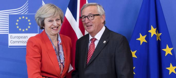 Theresa May and Jean-Claude Juncker (Photo: Politics Home)
