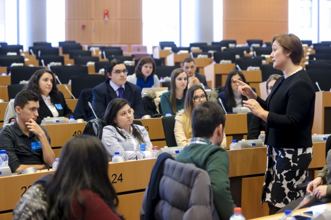 During a Q and A session Therese Comodini Cachia pushed for the public to give their contribution