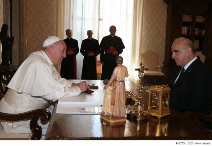 President George Vella meets Pope Francis at the Vatican