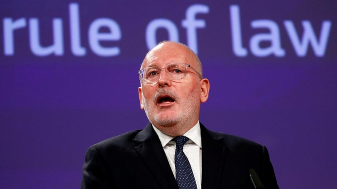 Frans Timmermans (pictured) would have to overcome strong opposition from eastern bloc countries were he to become European Commission president